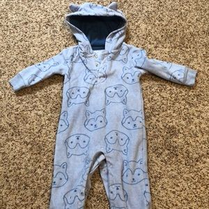 Fox fleece onesie